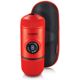 Wacaco Nanopresso Portable Espresso Machine with Protective Case, rosso